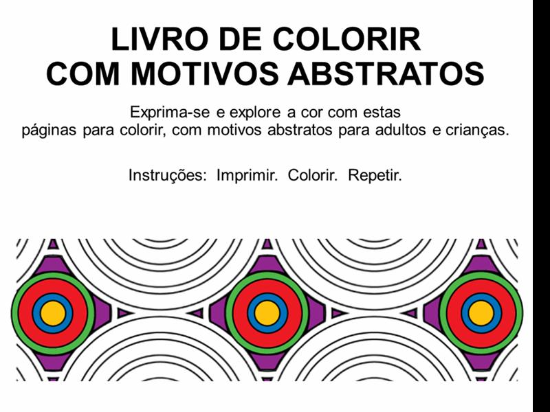 Livro de colorir abstrato