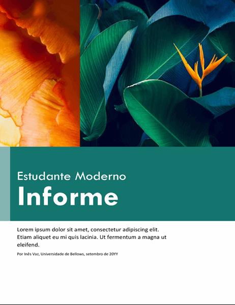 Relatório colorido para estudantes