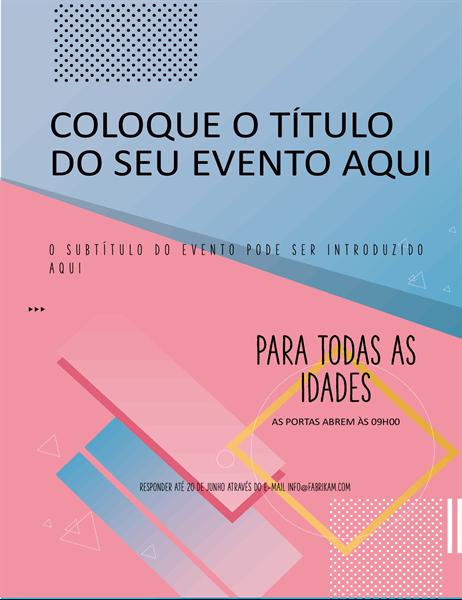 Panfleto de eventos com blocos