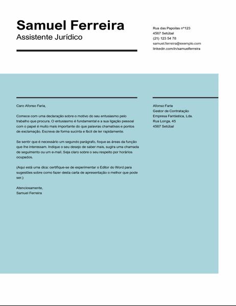 Carta de apresentação Impacto