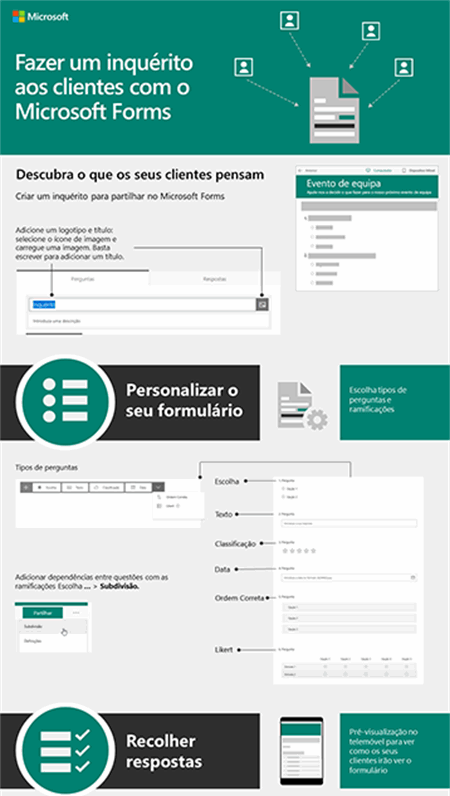 Fazer um inquérito aos clientes com o Microsoft Forms