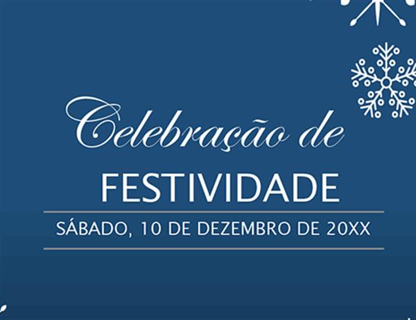 Convite para evento festivo Flocos de Neve