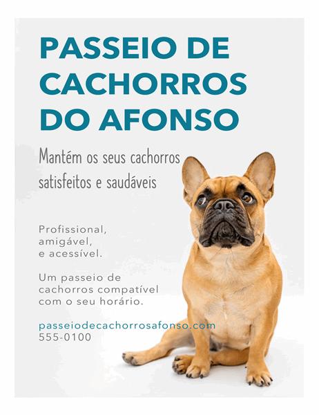 Panfleto para passeador de cães