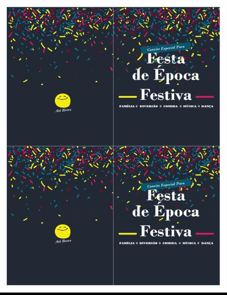 Convite para evento de época festiva