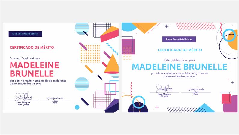 Certificados escolares