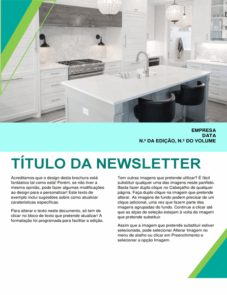Newsletter de design de interiores