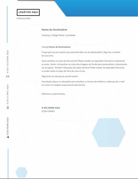Papel timbrado hexagonal