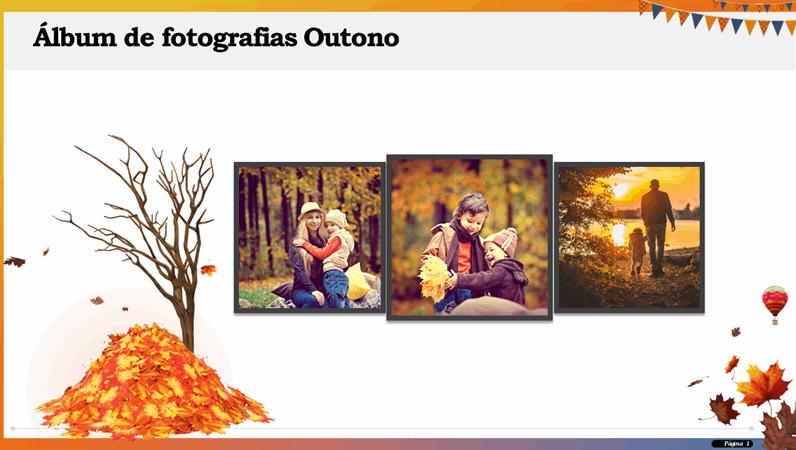 Álbum de fotografias Outono