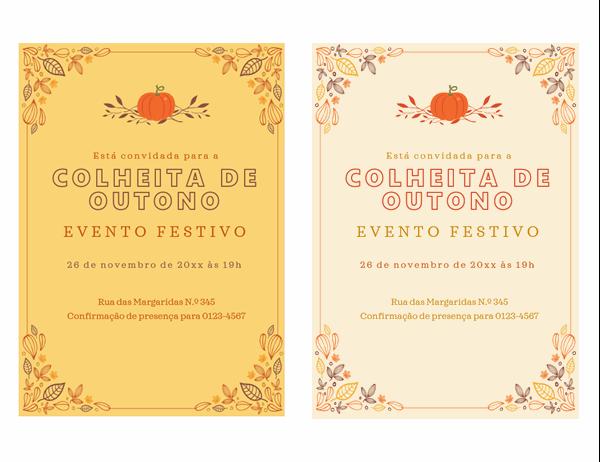 Convite para festa de outono