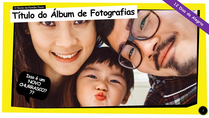 Álbum de fotografias estilo banda desenhada