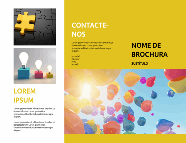 Brochura de evento amarela