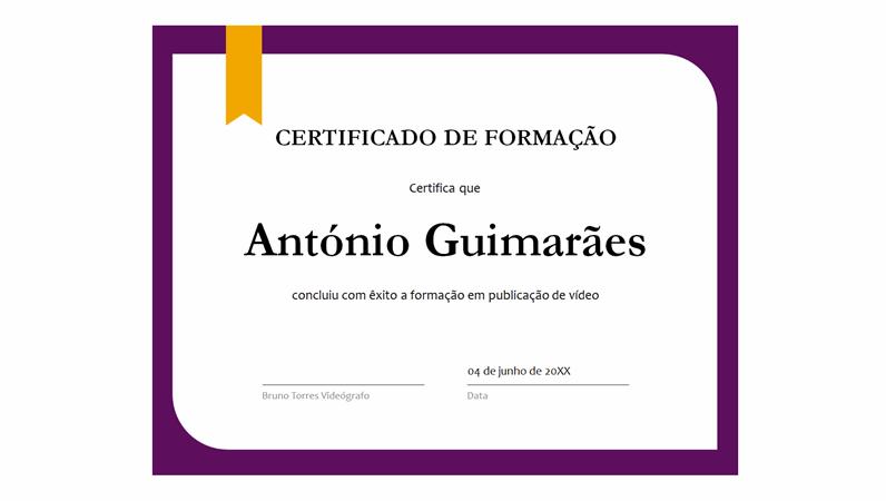 Certificado de formação