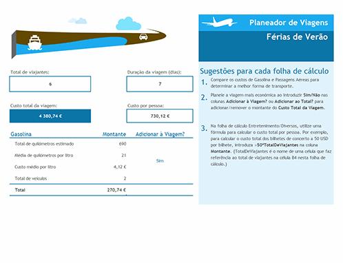 Planeador de viagens