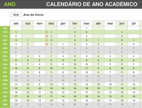 Calendário de ano académico
