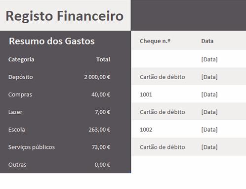 Registo financeiro