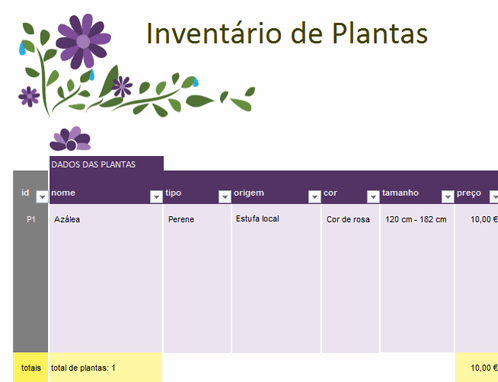 Planeador de jardim
