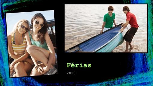 Álbum de fotografias das férias (design a giz)