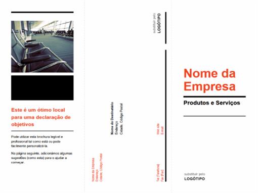Brochura empresarial de dobragem tripla (estrutura preta e vermelha)