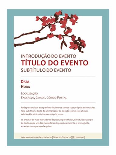 Panfleto de primavera (estrutura de ramos com flores)