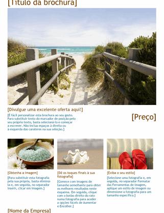 Brochura de viagem com fotografias