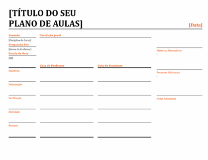 Planeador escolar diário