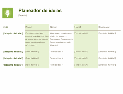 Planeador de ideias