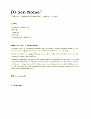 Carta de apresentação (verde)