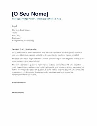 Carta de apresentação simples