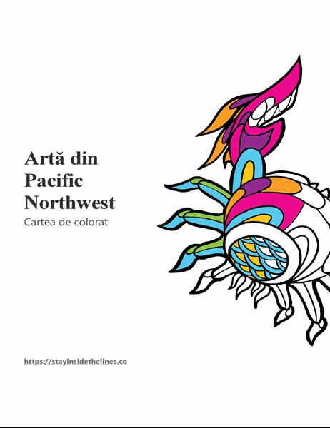 Artă din cartea de colorat Pacific Northwest