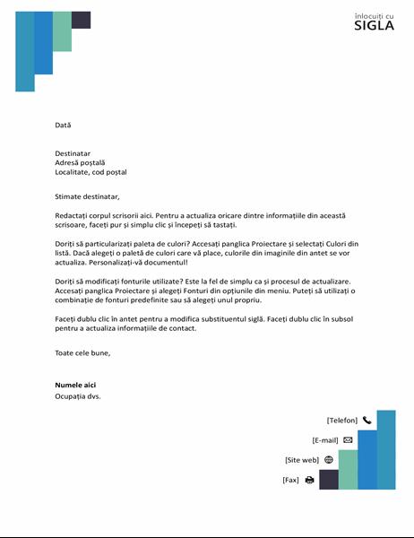 Antet de scrisoare Trepte albastre