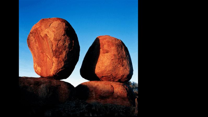 Diapozitiv cu o imagine sugerând echilibru