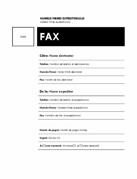 Fax (temă Median)
