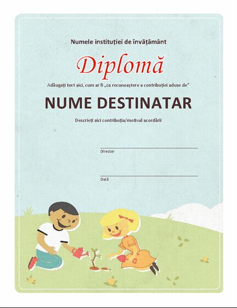 Diplomă pentru clasele primare