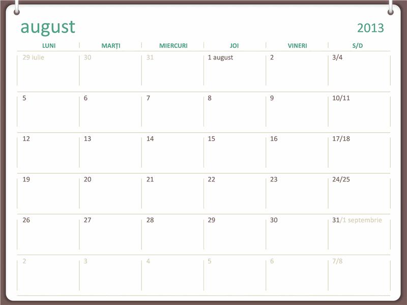 Calendar școlar 2013-2014 (august)