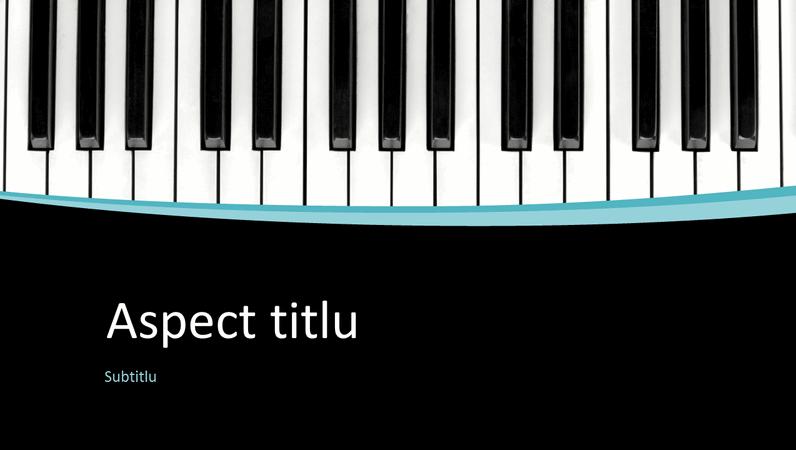 Prezentare cu note muzicale (ecran lat)