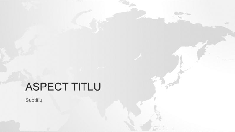 Seria Hărțile lumii, prezentarea continentului asiatic (ecran lat)