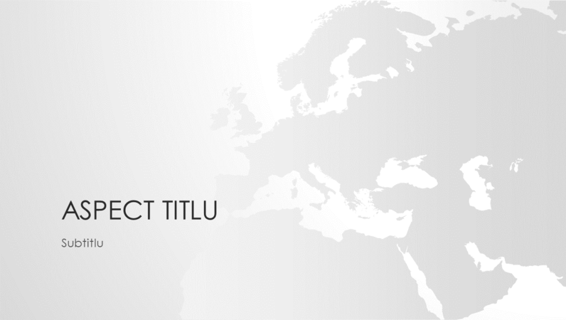 Seria Hărțile lumii, prezentarea continentului european (ecran lat)
