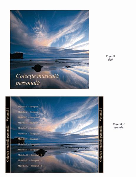 Inserție pentru carcasa CD-urilor de colecții muzicale personale