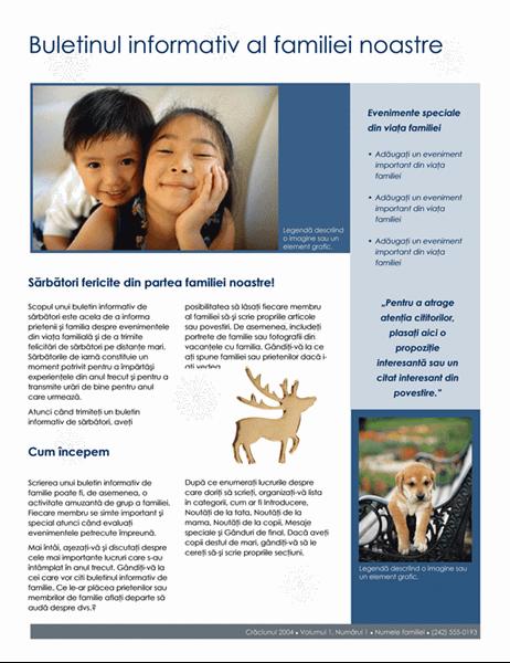 Buletin informativ al familiei de Crăciun