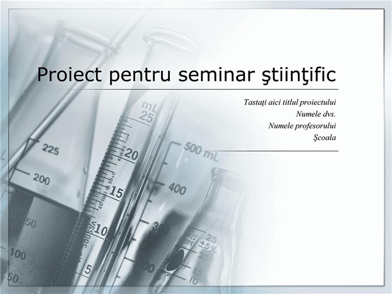 Prezentare proiect pentru seminar științific