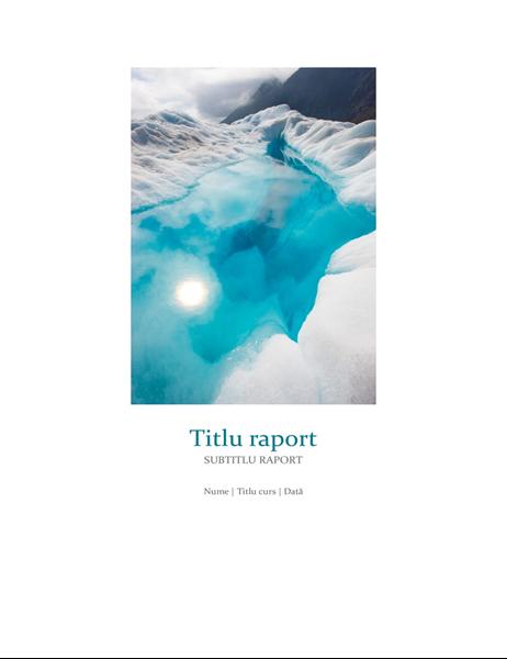 Raport școlar cu fotografie
