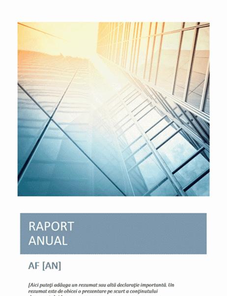 Raport anual (cu fotografie pentru copertă)