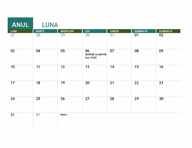Calendar școlar