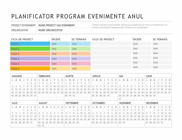 Planificator de evenimente