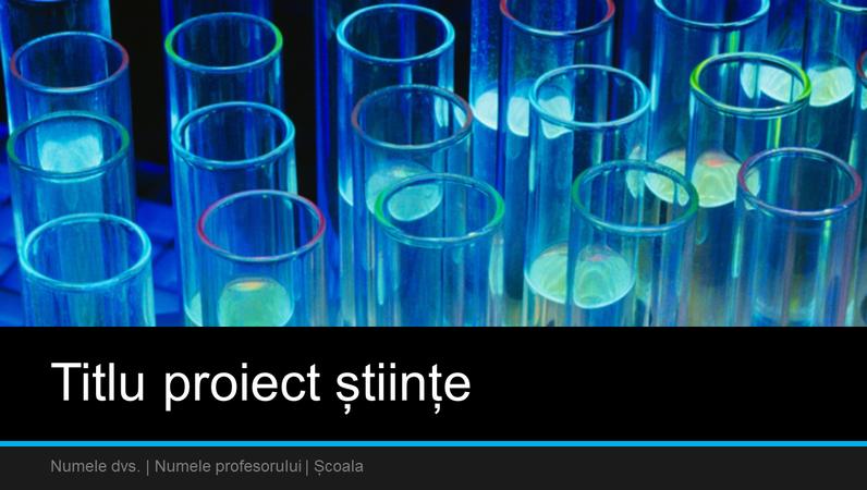 Prezentare proiect științe (ecran lat)