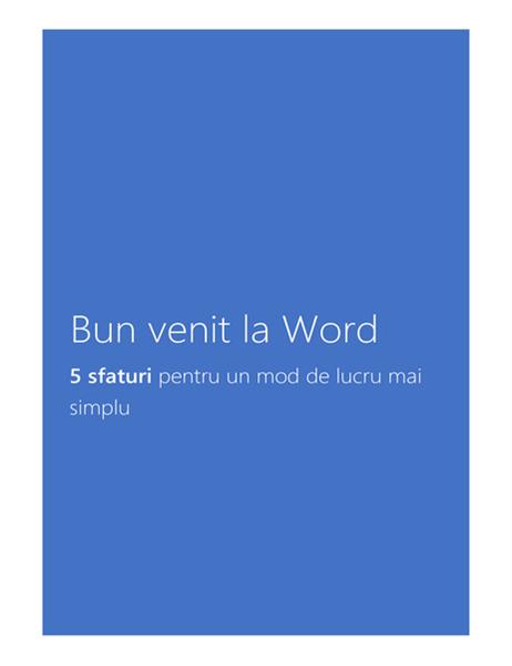 Bun venit la Word 2013