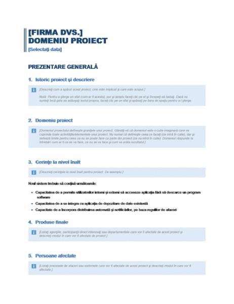 Domeniu proiect