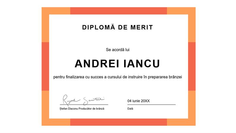 Diplomă de merit (albastru)