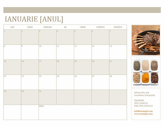 Calendar cu fotografii (luni)