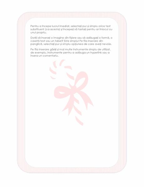Foaie de scris de sărbători (cu o inscripționare acadea)